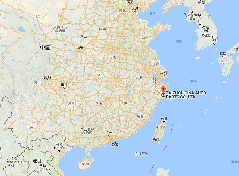 taizhou cina auto parts co.ltd map - Contact Us
