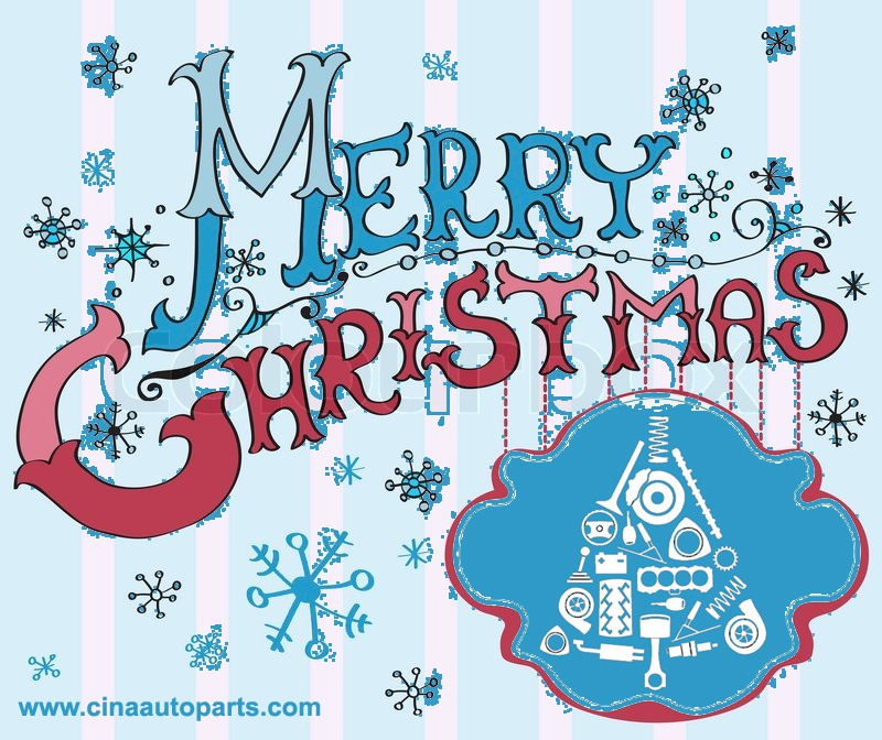 2017 christmas card merry christmas lettering - Happy Chinese New Year 2020 From Cina Auto Parts Company