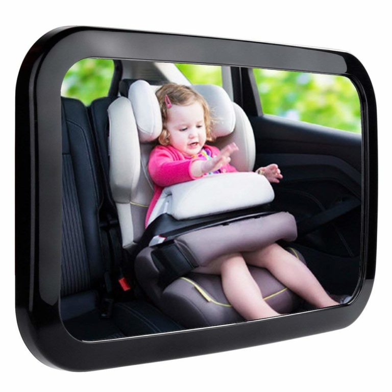 baby car mirror 768x768 - Baby Car Mirror, Shatter-Proof Acrylic Baby Mirror for Car, Rearview Baby Mirror-Easily to Observe the Baby's Every Move Safety and 360 Degree Adjustability