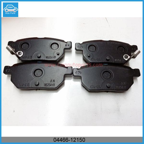 04466 12150 - Toyota Disc Brake Pad Set (Rear) OEM 04466-12150